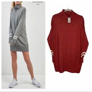 HOLLISTER Stripe Knit High Neck Dress Size S